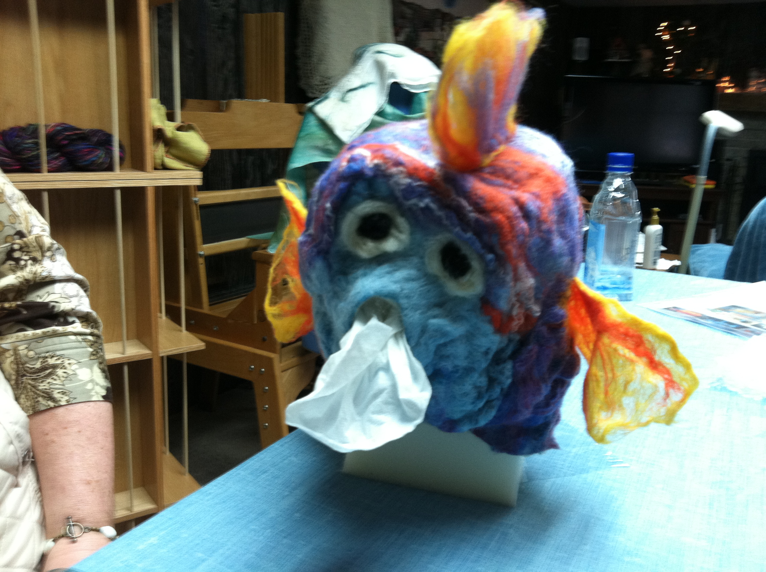 Wet felted fish